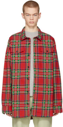 Off-White Off White Red Check Shirt