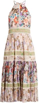 REBECCA TAYLOR Floral-print halterneck cotton-blend dress $645 thestylecure.com