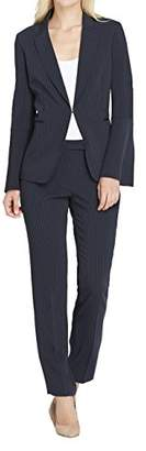 Tahari by Arthur S. Levine Women's Pinstripe Pant Suit with Long Bell Sleeve Jacket