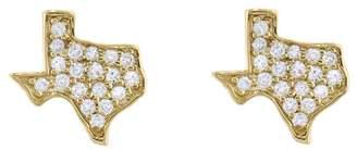 Sydney Evan Diamond Texas Stud Earrings - Yellow Gold