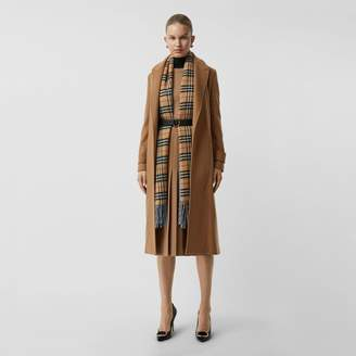 Burberry Peak Lapel Cashmere Wrap Coat , Size: 06, Beige