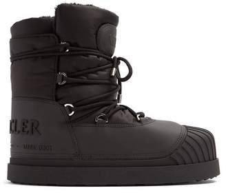 Moncler Uranus Lace Up Apres Ski Boots - Mens - Black