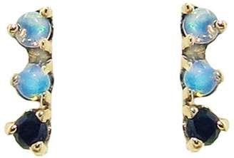 Black Diamond WWAKE Three-Step Opal and Stud Earrings