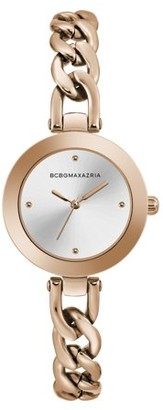 BCBGMAXAZRIA Women's Rose Gold Case Rose Gold Dial Rose Gold Bracelet Watch