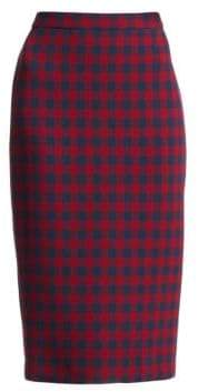 A.L.C. Thea Check Wool Pencil Skirt