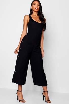 boohoo Woven Button Side Culottes
