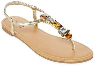 MIXIT Mixit Womens Jewel Strap Sandals