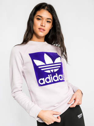 adidas Trefoil Crew Sweatshirt in Purple
