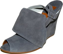 Chloe' Grey Fold Over Suede Wedges