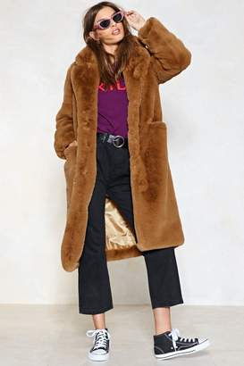 Nasty Gal Fur Now Faux Fur Coat