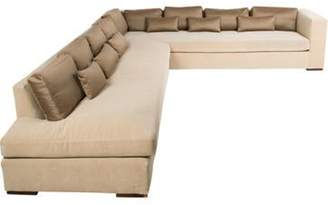 BEIGE 2-Piece Contemporary Sectional Sofa 2-Piece Contemporary Sectional Sofa