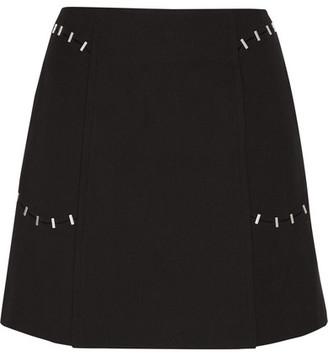 3.1 Phillip Lim - Embellished Wool-blend Twill Mini Skirt - Black $450 thestylecure.com