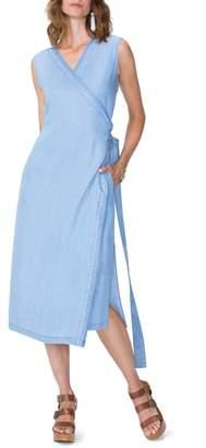 NYDJ Chambray Release Detail Wrap Dress