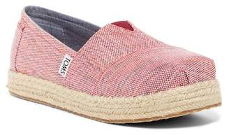 Toms Platform Slip-On Flat (Little Kid & Big Kid)