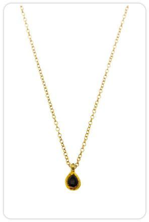 Maya Brenner Black Onyx Mini Teardrop Necklace