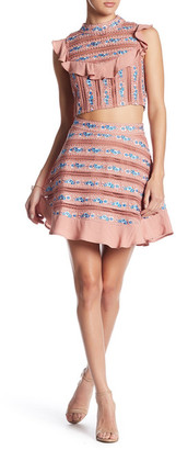 FOR LOVE & LEMONS Percephone Embroidery Skirt $290 thestylecure.com