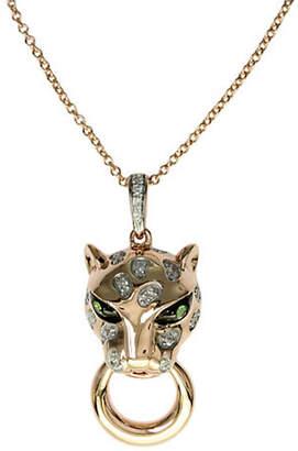 Effy 14K Rose Gold Diamond And Tsavorite Pendant