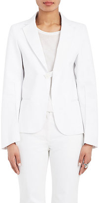 Calvin Klein Women's Cotton Single-Button Jacket $1,495 thestylecure.com