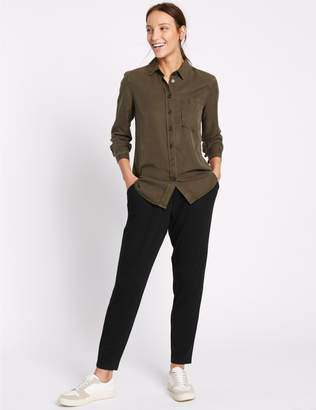 Marks and Spencer Jersey Tapered Leg Trousers