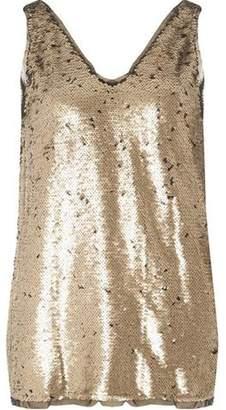 Dorothy Perkins Womens **Vila Gold Duo Sequin Vest Top