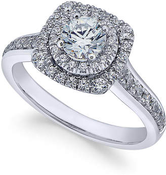 X3 Diamond Engagement Ring (1 ct. t.w.) in 18k White Gold