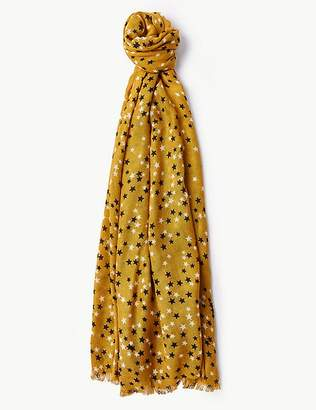 Marks and Spencer Star Print Scarf
