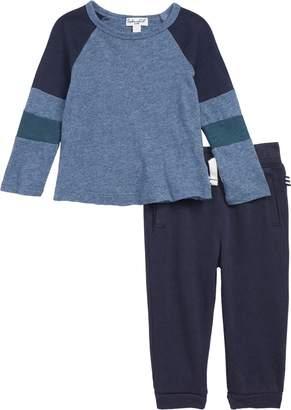 Splendid (スプレンディッド) - Splendid Raglan T-Shirt & Jogger Pants Set