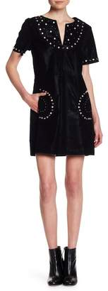 Sugar Lips Sugarlips Filmore Faux Suede Stud Dress