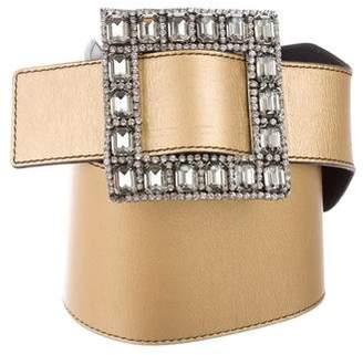 Valentino Embellished Wide Waist Belt