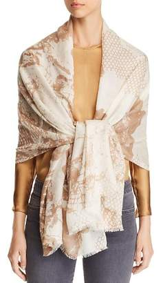 Max Mara Zeo Floral Lace-Print Scarf