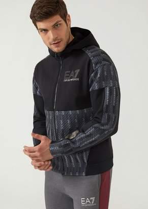 Emporio Armani Ea7 Evo Plus Premium Technical Fabric Training Sweatshirt With Multicoloured Pattern