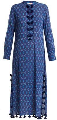 Figue Paolina tie-dye tassel-trimmed cotton-blend kaftan