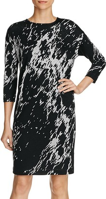 Three Dots Metallic Print Sheath Dress $165 thestylecure.com