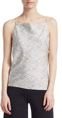 Theory Silk Cowl-Back Tank Top