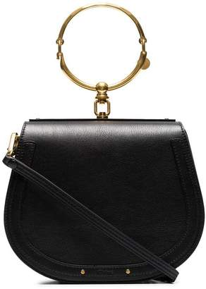 Chloé black Nile medium leather bracelet bag