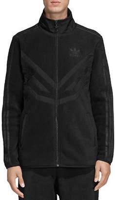 adidas Mixed-Media Fleece Track Jacket