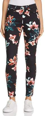7 For All Mankind Printed Ankle Skinny Jeans in Moonlight Orchid