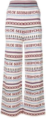 See by Chloe knitted flared trousers