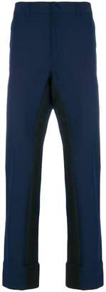 Prada contrasting-stripe trousers