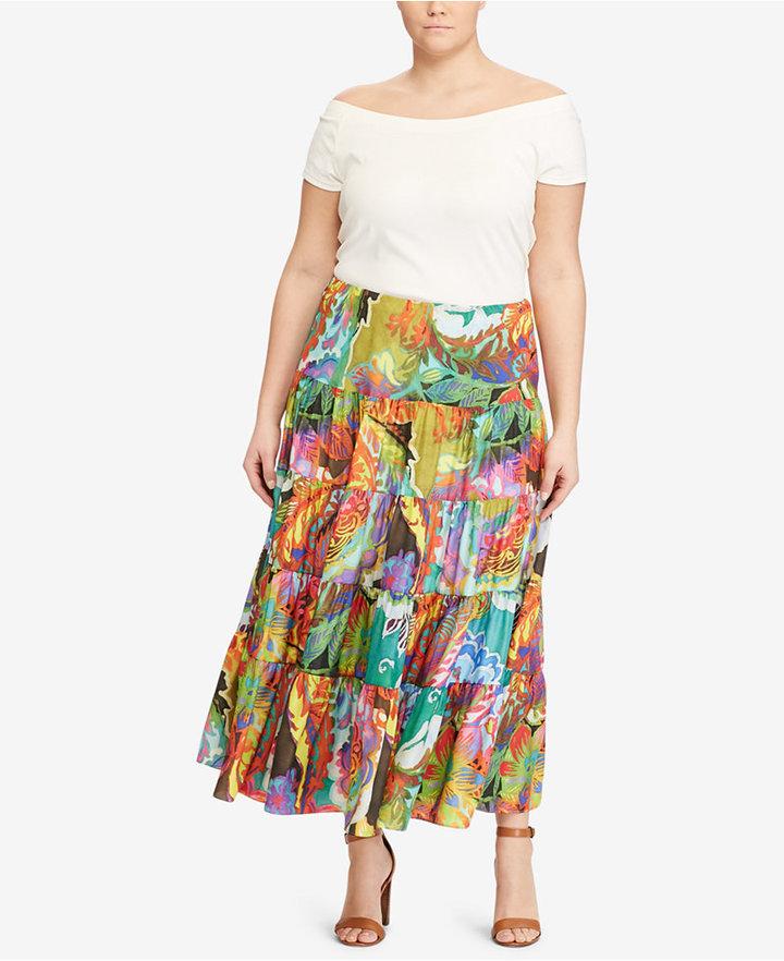 Lauren Ralph LaurenLauren Ralph Lauren Plus Size Floral-Print Maxiskirt