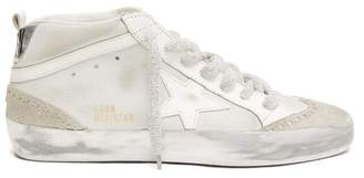 Golden Goose Mid Star High Top Leather Trainers - Womens - White