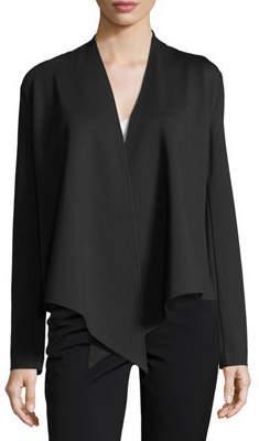 Neiman Marcus Cascade-Collar Knit Cardigan