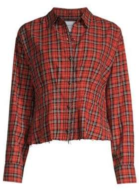 Current/Elliott Tella Tartan Button-Down Shirt