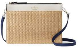 Kate Spade New York Clarise Woven Leather Crossbody Purse $198 thestylecure.com