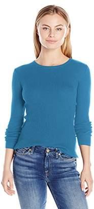 Pendleton Women's Rib Jewel Neck Pullover Sweater