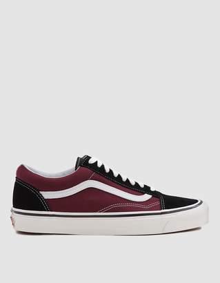 Vans Old Skool 36 DX Sneaker in Black/OG Burgundy