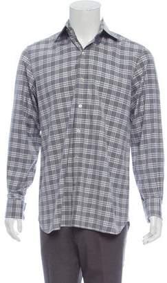 Tom Ford Plaid French Cuff Shirt