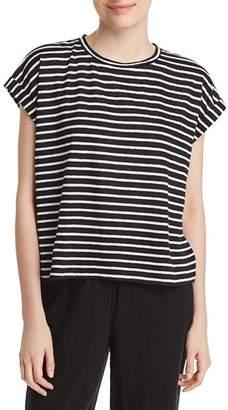 Eileen Fisher Striped Roll-Cuff Top