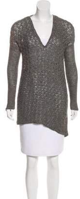 Helmut Lang Alpaca Open Knit Sweater
