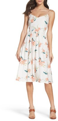 Women's Bb Dakota Lila Floral Print Midi Dress $105 thestylecure.com